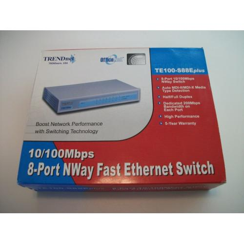 TRENDnet TE100 (TE100-S88Eplus) 8-Ports External Fast Ethernet NWay Switch
