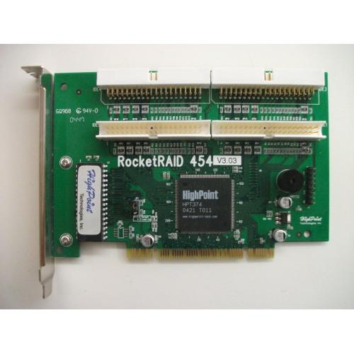 HighPoint RocketRAID 454 4-Channel ATA RAID 5, Manual, 4 Cables, Driver Disks