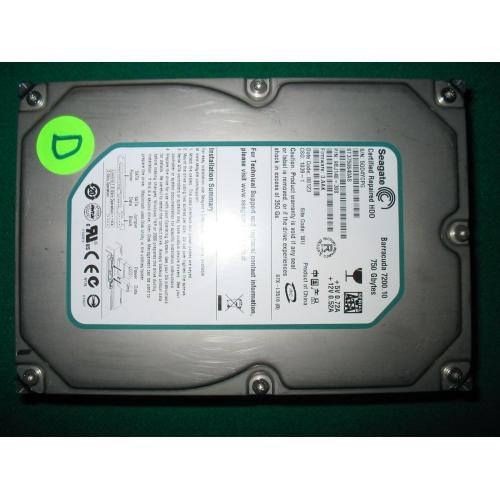 Seagate Barracuda 7200.10 ST3750640AS 750GB 7200 RPM 16MB Cache SATA 3.0Gb/s 3.5